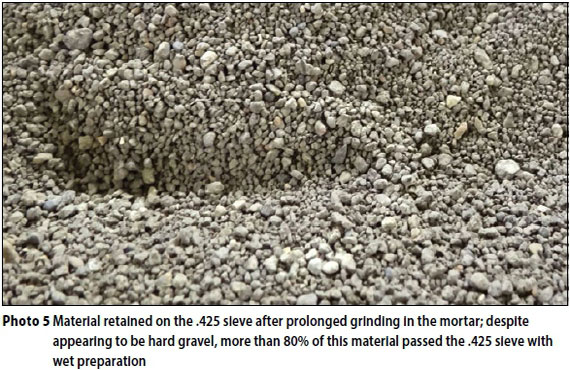 wet gravel some shortcomings in the standard south african testing procedures