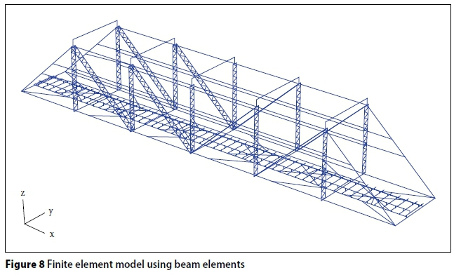 Model Containing Mainly Shell Elements As Shown In Figures 9 And 10 The Finite Element Models Were Based Entirely On Physical Measurement Of Bridge