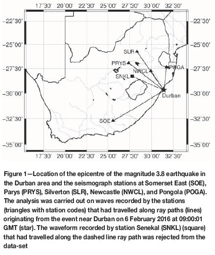 Near-surface wave attenuation (kappa) of an earthquake near