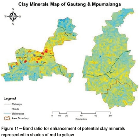 Mapping hydrothermal minerals using remotely sensed