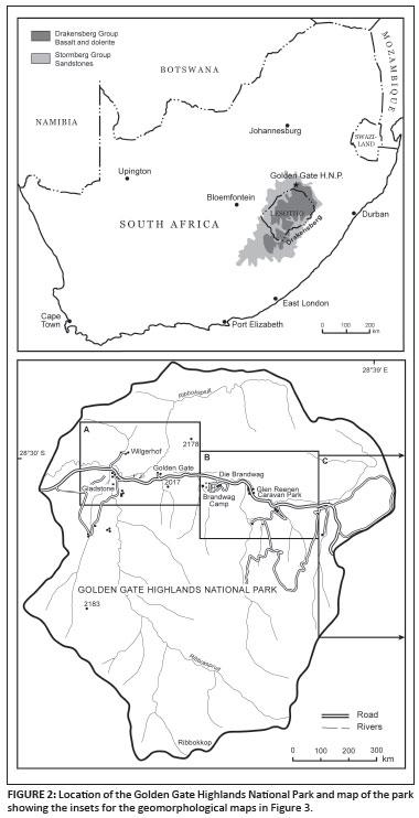 Sandstone geomorphology of the Golden Gate Highlands