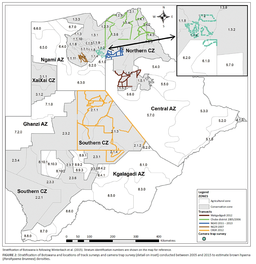surveys and mapping botswana Conservation Implications Of Brown Hyaena Parahyaena Brunnea surveys and mapping botswana