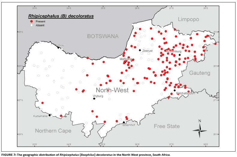 Survey of the livestock ticks of the North West province South Africa