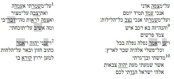 Inner-biblical Allusion in Habakkuk's משא (Hab 1:1-2:20) and