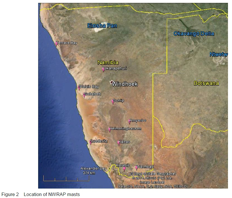 The National Wind Resource Assessment Project of Namibia