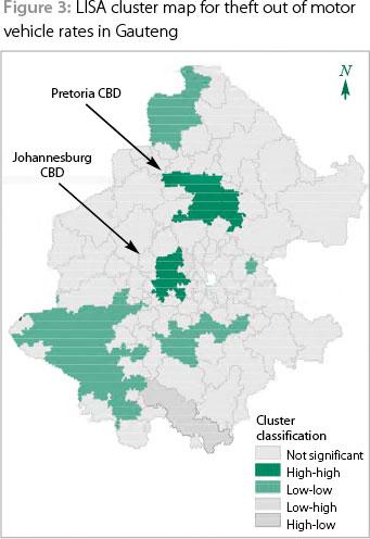 Visualising property crime in Gauteng Applying GIS to crime pattern