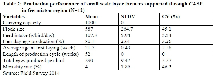 Production performance and profitability analysis of small scale