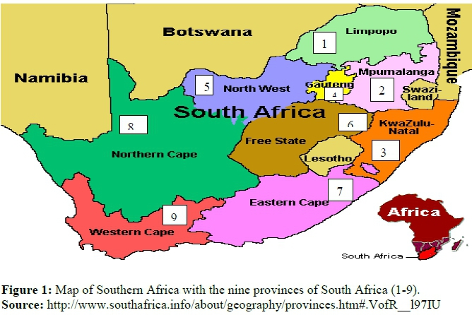 Map Of South Africa 9 Provinces.The Role Of Partnerships In Agricultural Extension Service Delivery