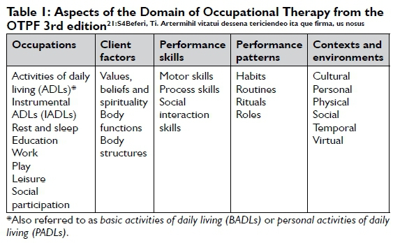 occupational therapy practice framework 1st edition pdf