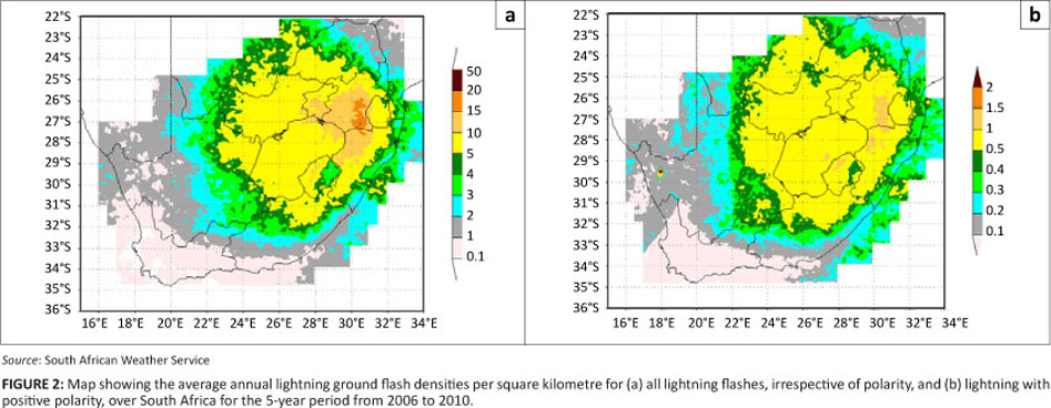 The lightning climatology of south africa the central interior of the country falls within the severe risk category the lightning risk decreases towards the west with the western cape mostly risk freerunsca Image collections