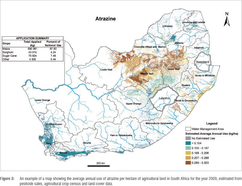 Development Of Pesticide Use Maps For South Africa - Important rivers in africa