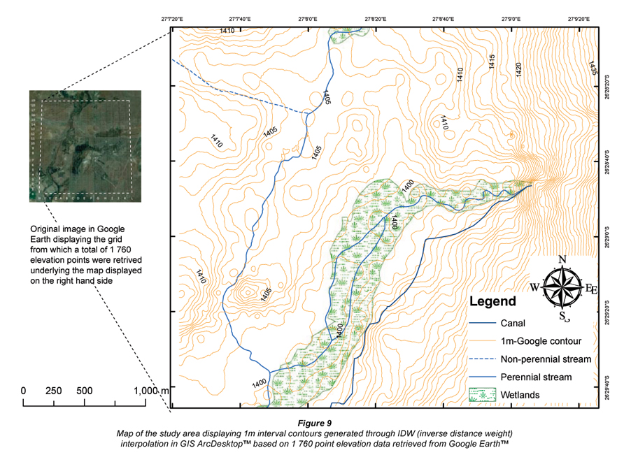 Generating Highresolution Digital Elevation Models For Wetland - Google earth elevation data