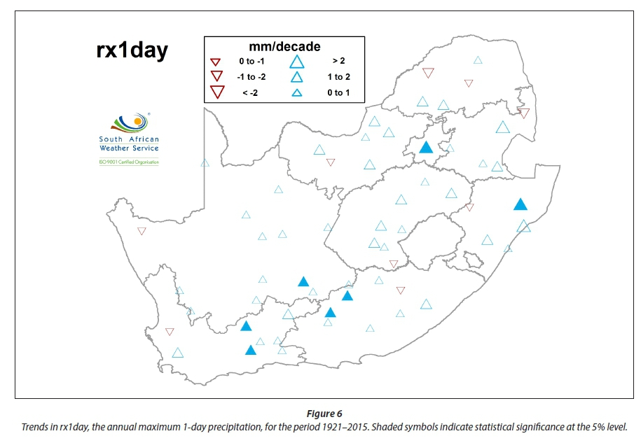 Historical Rainfall Trends In South Africa 1921 2015