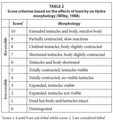 A comparison between Daphnia pulex and Hydra vulgaris as