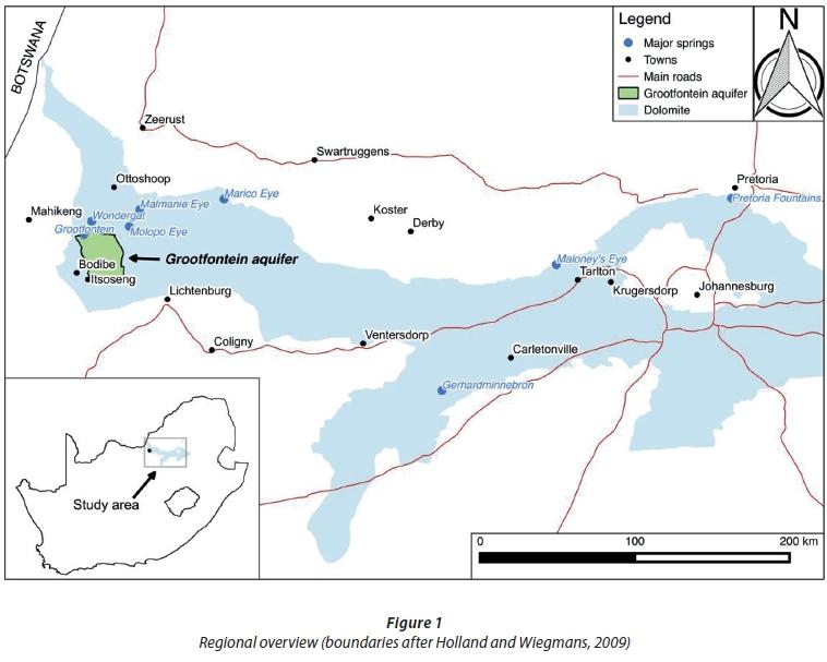 An updated water balance for the Grootfontein aquifer near Mahikeng